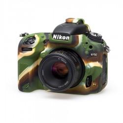 EasyCover Protection Silicone pour Nikon D750 Militaire