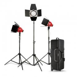 Nicefoto Lumière Continue Studio kit 3x 800W Mandarine avec dimmer DGR-800 L