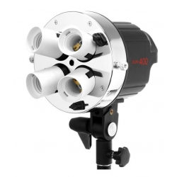 Jinbei SUN-400 Support de 4 sockets E27 / Lumière Continue