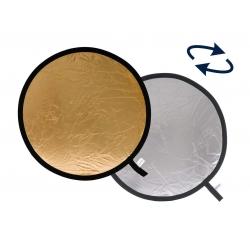 """Lastolite réflecteur rond Or / Argent pliable 30cm / 12"""" Ref.1234"""