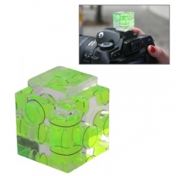 Triple Axis Bubble Spirit Level on Camera Hot Shoe 3D