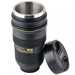 Dummy 24-70mm 1: 2.8  Tasse de café Thermos Acier inoxydable
