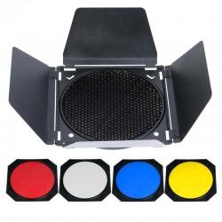 Godox Nid d 'abeille 200mm - Coupe flux - Filtres de couleur rouge/jaune/bleu/blanc