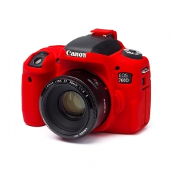 EasyCover Protection Silicone pour Canon 760D / T6s Rouge