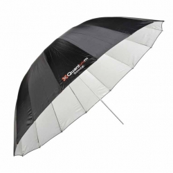 Quantuum Space 185 white parabolic umbrella