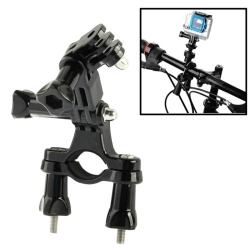 Dazzne Bicycle Bar Mount Holder with 3 Way for GoPro