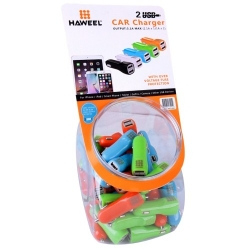 HAWEEL 60pcs Dual USB Ports Car Charger for iPhone, Samsung