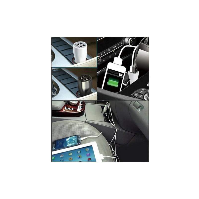 haweel dual usb chargeur voiture iphone samsung bleu. Black Bedroom Furniture Sets. Home Design Ideas