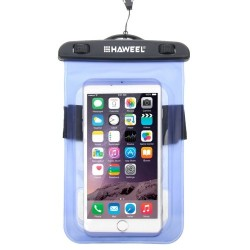 HAWEEL Transparent Universal Waterproof Bag for iPhone, Samsung Blue