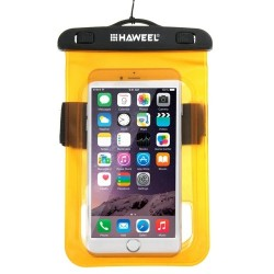 HAWEEL Transparent Universal Waterproof Bag for iPhone, Samsung Orange