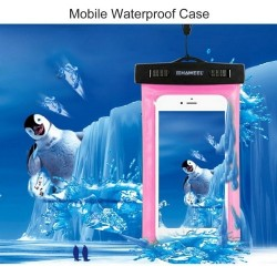 HAWEEL Transparent Universal Waterproof Bag for iPhone, Samsung Green
