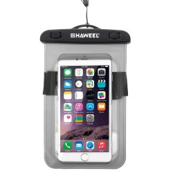 HAWEEL Transparent Universal Waterproof Bag for iPhone, Samsung Black