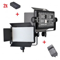 Godox Kit Led500 White Led Panel + 2xNP-F550 + Chargeur