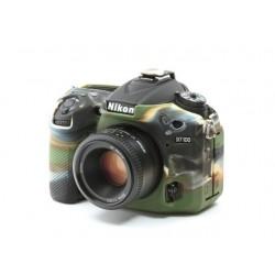 EasyCover Protection Silicone pour Nikon D7100 / D7200 Militaire