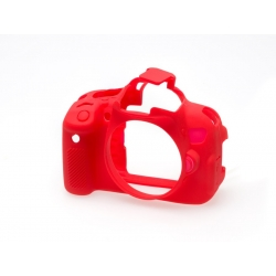 EasyCover Protection Silicone pour Canon 650D / 700D / T4i / T5i Rouge