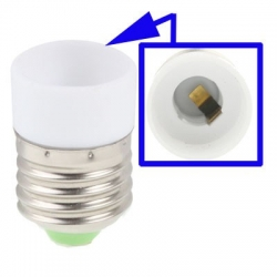E14 to E27 Light Lamp Bulbs Adapter Converter