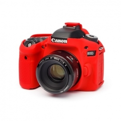EasyCover Protection Silicone pour Canon 80D Rouge