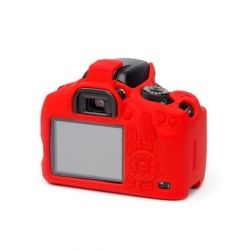 EasyCover Protection Silicone pour Canon 1300D / 2000D / T6 / T7  Rouge