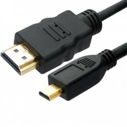 Câble HDMI 1m Mini Mâle - Micro Mâle plaqué Or