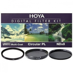 Hoya 58 mm Kit Filtres Digital II - UV - Polarisant Circ. - ND8