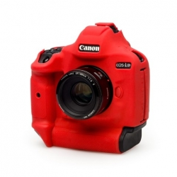 EasyCover Protection Silicone pour Canon 1DX MK II Rouge