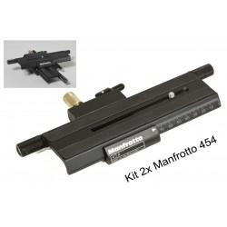 Manfrotto Kit 2x454 Double rail Macro