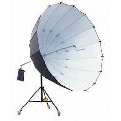 Studio King Jumbo Parapluie + trépied Noir / Argent 220 cm