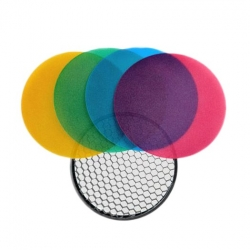 Quadralite Reporter Flash Color Grid Reflector kit 120mm