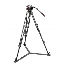 Manfrotto 504HD,546GBK Kit Trépied à double-jambes avec rotule vidéo midi