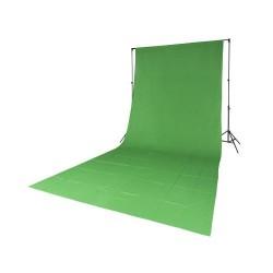 Quadralite Fond de Studio Vert en coton 2,85mx6m