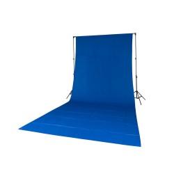 Quadralite Fond de Studio Bleu en coton 2,85mx6m