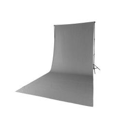 Quadralite Fond de Studio Gris en coton 2,85mx6m
