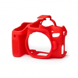 EasyCover Protection Silicone pour Canon 77D Rouge