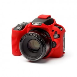 EasyCover Protection Silicone pour Canon 200D Rouge