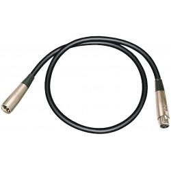 Câble XLR 3/3 Male - Femelle 1.5m