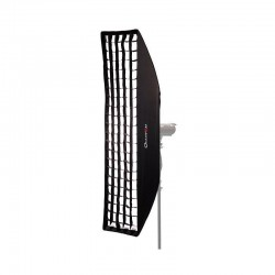 Quadralite Kit Softbox Strip 40x180cm + Nid d'abeille (grille / grid)