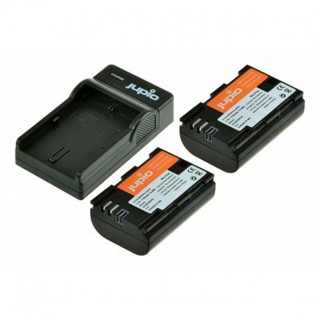 Jupio Kit 2x Battery LP-E6N 1700 mAh + 1x Charger