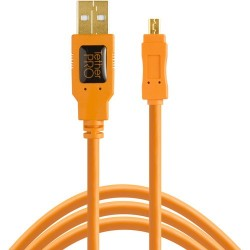 Tether Tools TetherPro USB 2.0 Type-A Male to Mini-B Male Cable (4,6m)