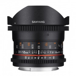 Samyang 12mm T3.1 ED AS NCS Fisheye VDSLR pour Canon EF