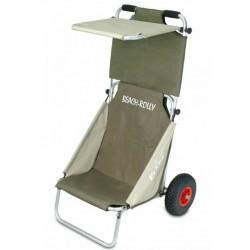 Eckla Beach Rolly Cart Trolley avec toit