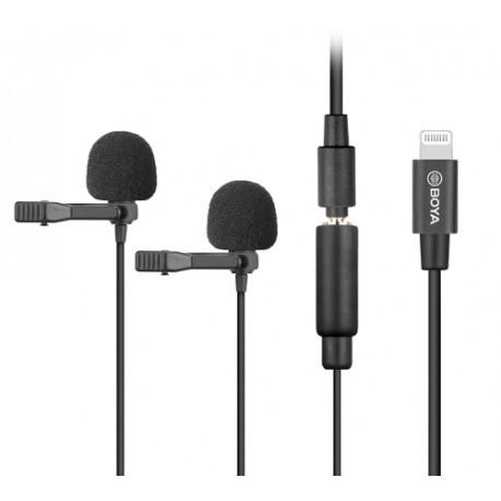 BY-M2D Digital Dual Lavalier Microphones compatible iOS