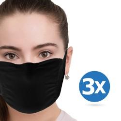 Masque facial FHC (3pcs) - Masque quotidien réutilisable Noir