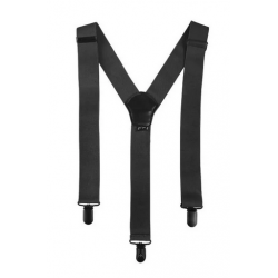 MilTec Black Suspenders with Clips