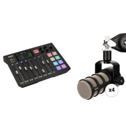 RODE Kit 1x RodeCaster Pro + 4x PodMic Microphone