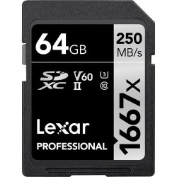 Lexar 64GB Professional 1667x SDXC UHS-II