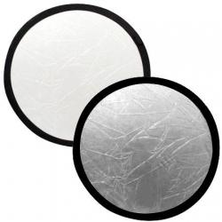 """Lastolite réflecteur rond Blanc / Argent pliable 95cm / 38"""" Ref. 3831"""