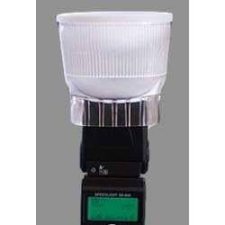 Lambency Clear Diffuser Flash avec Dome Blanc P3 pour Nikon / Sony / Sigma