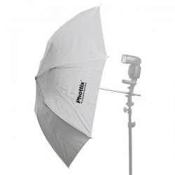 "Petit parapluie pliable blanc Shoot-Trought 36"" (91cm)"