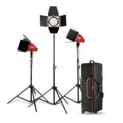 Nicefoto Lumière Continue Studio kit 3x 800W Mandarine avec dimmer DGR-800 S