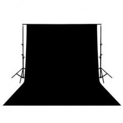 Fond de Studio noir en coton 3x3m